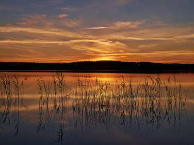 Sunset at Huakkajarvi