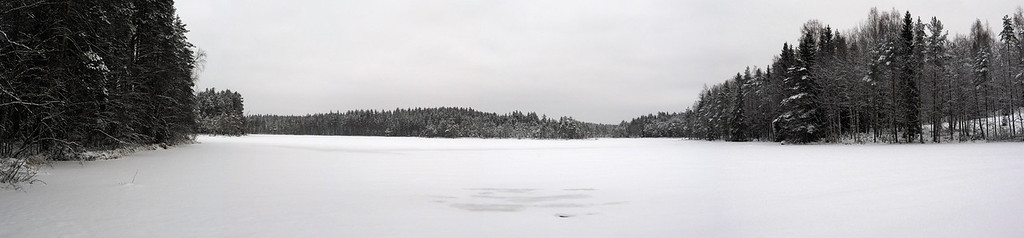 Frozen Kovero Lake Panorama
