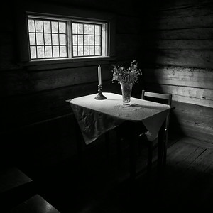 Table of the priest. Parsonage at  Turkansaari