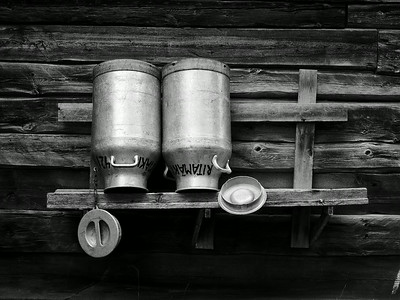 Old MIlk Containers
